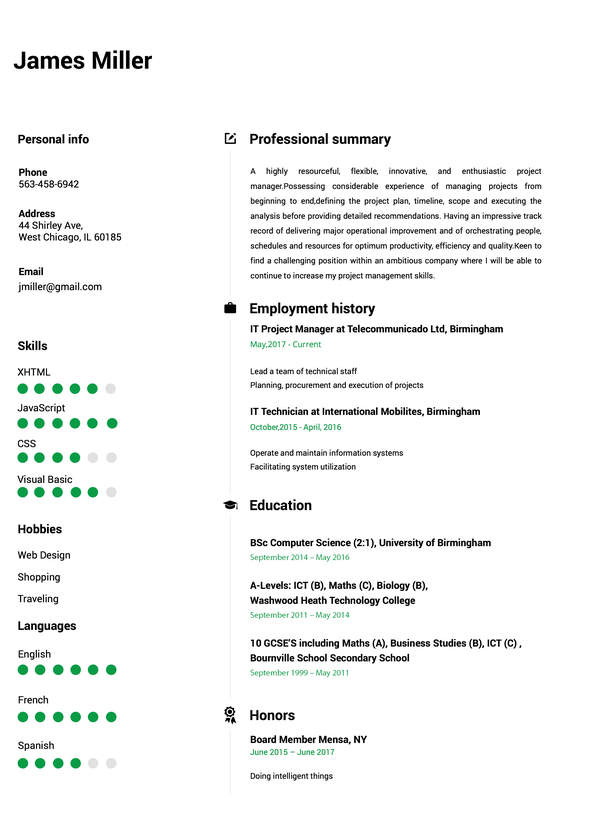 Make Resume | Online Resume Builder
