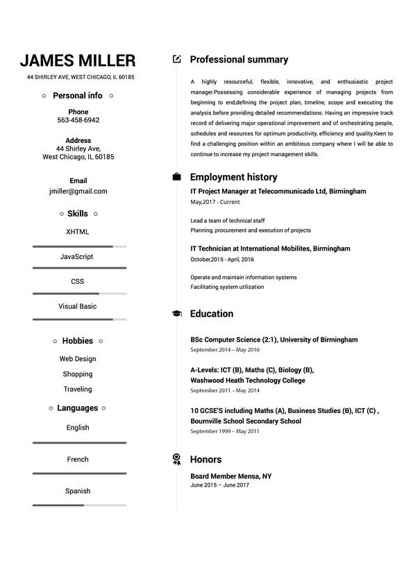 my resume template resume builder create a resume in 5 minutes 23732