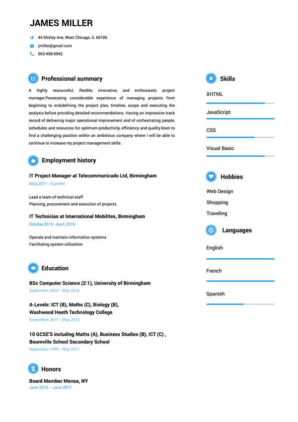 Create A Perfect Resume In 5 Minutes Resume Maker Online