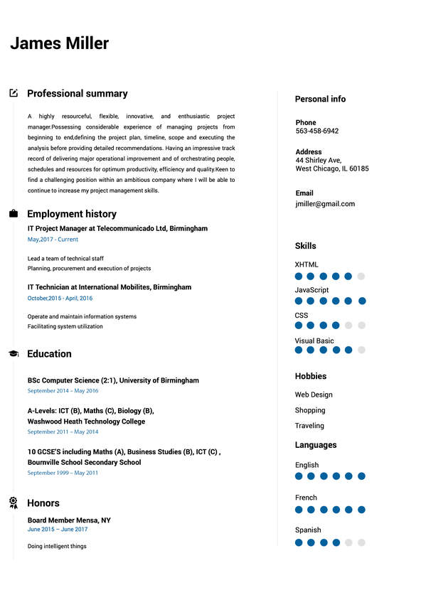 Elegant Build My Resume  My Resume
